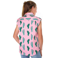 Cactus Kids Full Button Loose Fit Sleeveless Workshirt