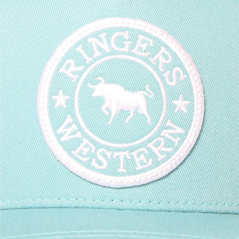 Signature Bull Trucker Dusty Jade & White with White & Dusty Jade Patch