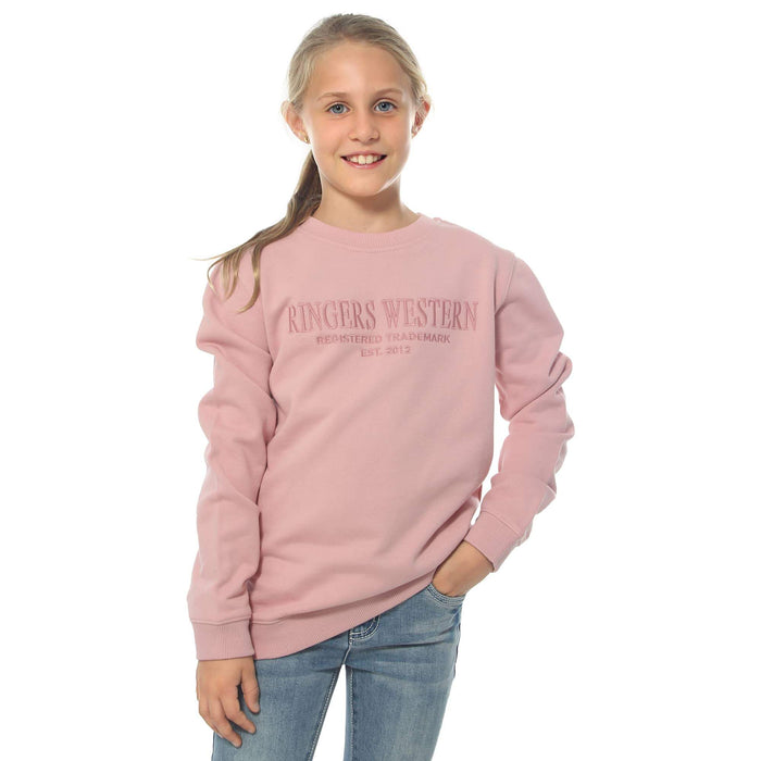 Bindoon Kids Crew Neck Pullover Dusty Pink