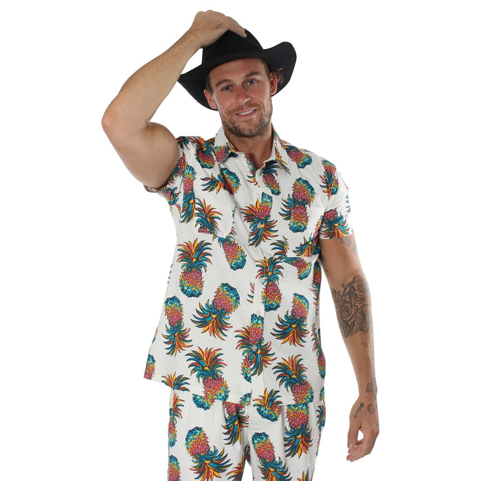 Pineapple Mens Short Sleeve Casual Shirt