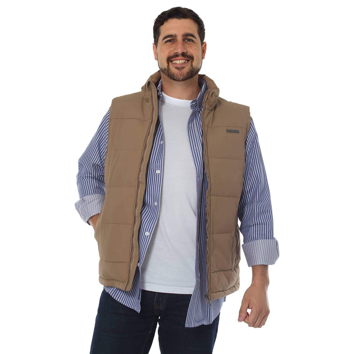 Horsham Mens Puffer Vest Clay