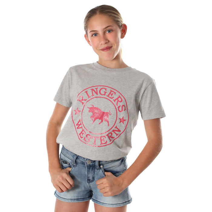 Blueys Kids Classic T-Shirt Grey Marle Melon