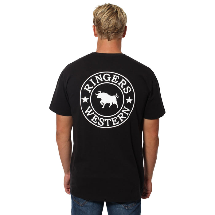 Signature Bull Mens Classic T-Shirt - Black