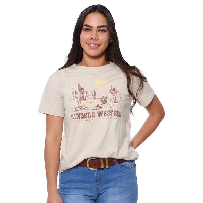 Arizona Womens Loose T-Shirt - Oatmeal