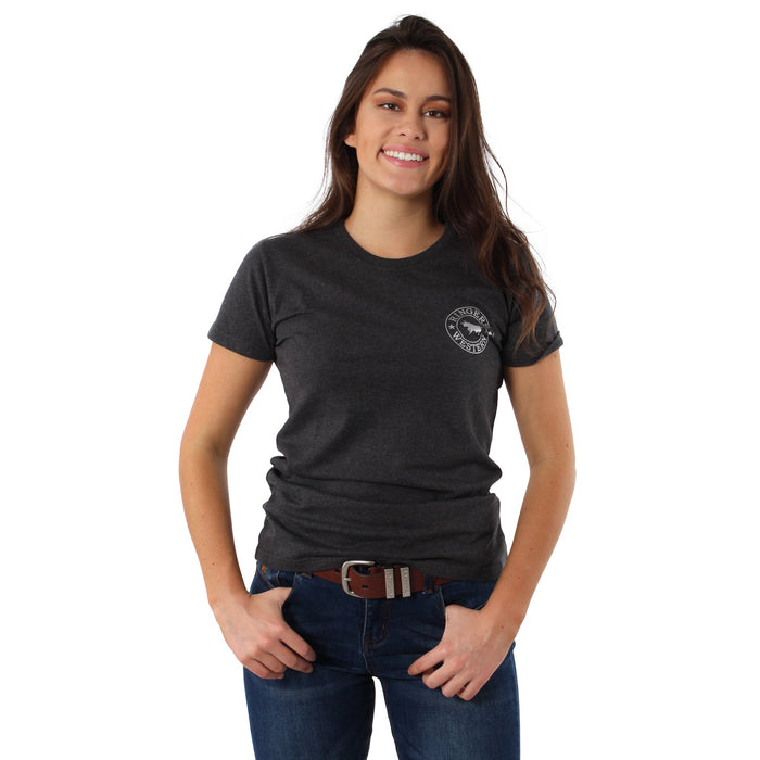 Signature Bull Womens Classic T-Shirt Dark Charcoal Marle
