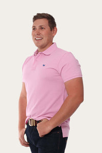 Classic Mens Polo Shirt Pastel Pink