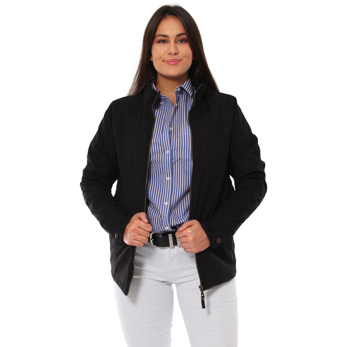 Canning Womens Canvas Jacket Black