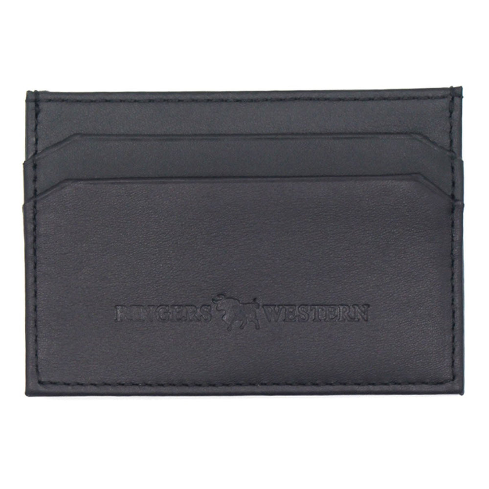 Roxby Leather Card Wallet Black