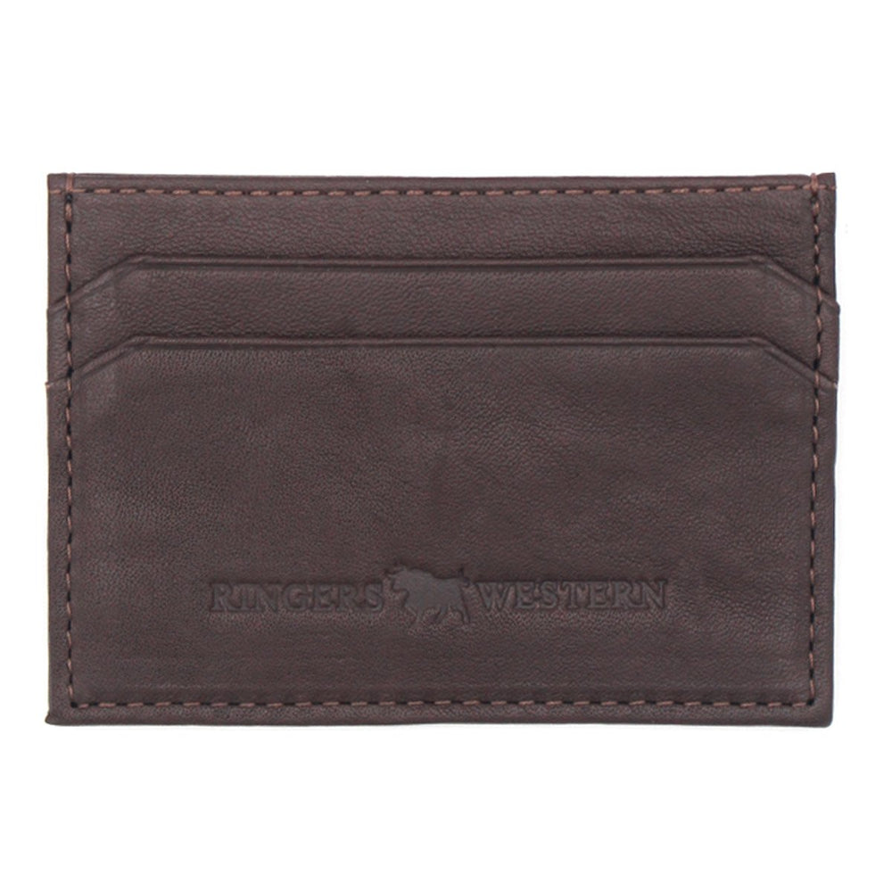 Roxby Leather Card Wallet Brown
