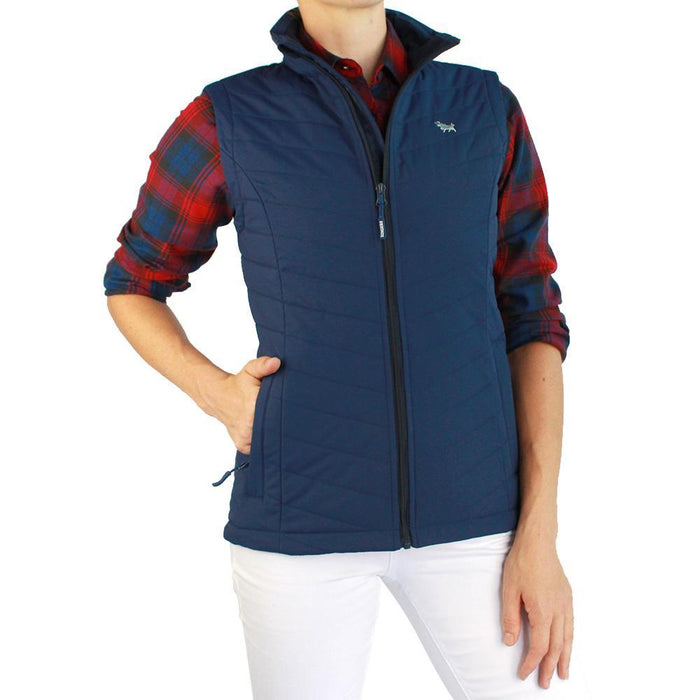 Falls Creek Womens Puffer Vest Navy
