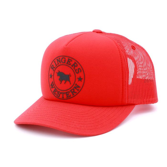 Red Foam Trucker with Black Print