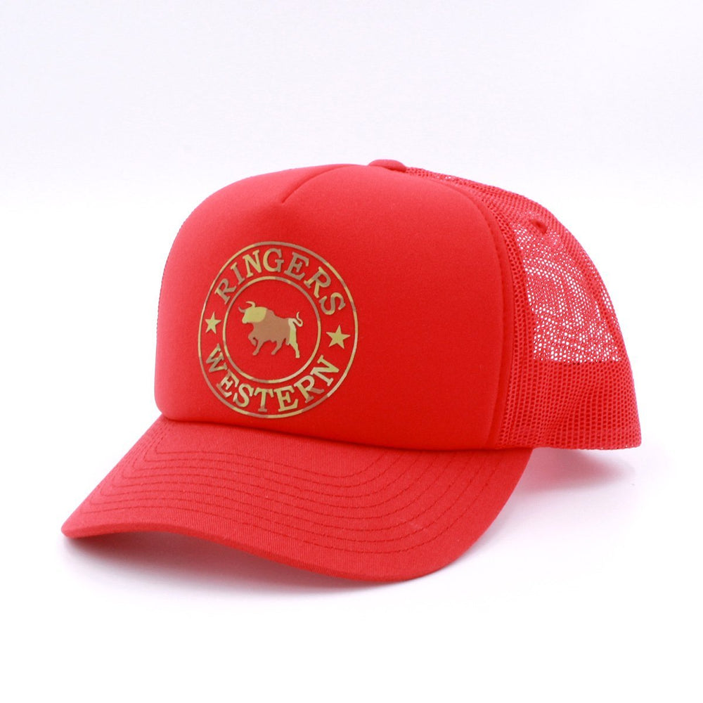 Foam Trucker Red with Camo Print
