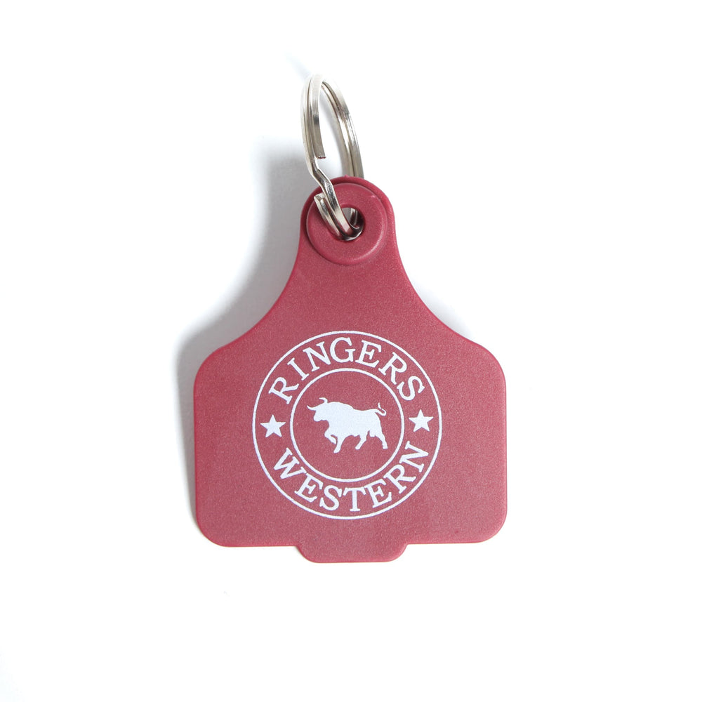 Cattle Tags Burgundy