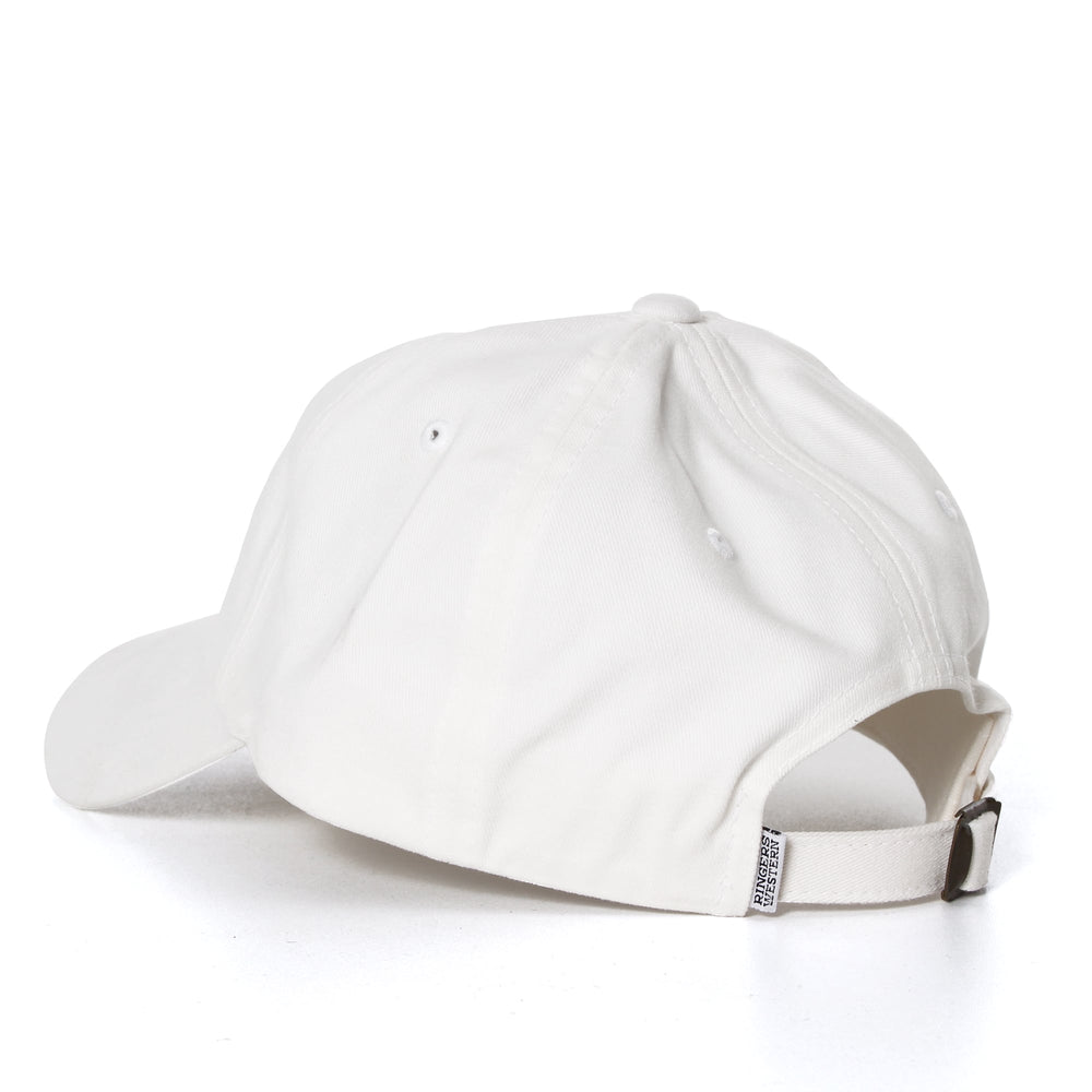 Dad Cap White with Black Embroidery