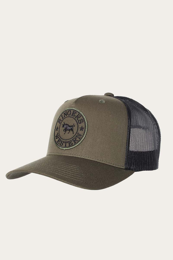 Signature Bull Trucker Army with Army & Black Patch