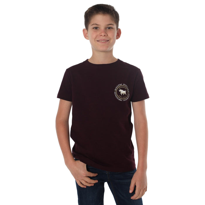 Nullarbor Kids Classic T-Shirt Cabernet Marle
