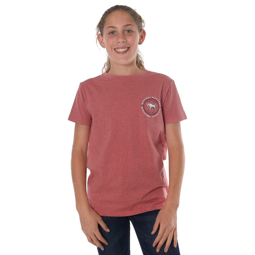 Nullarbor Kids Classic T-Shirt Dusty Rose Marle