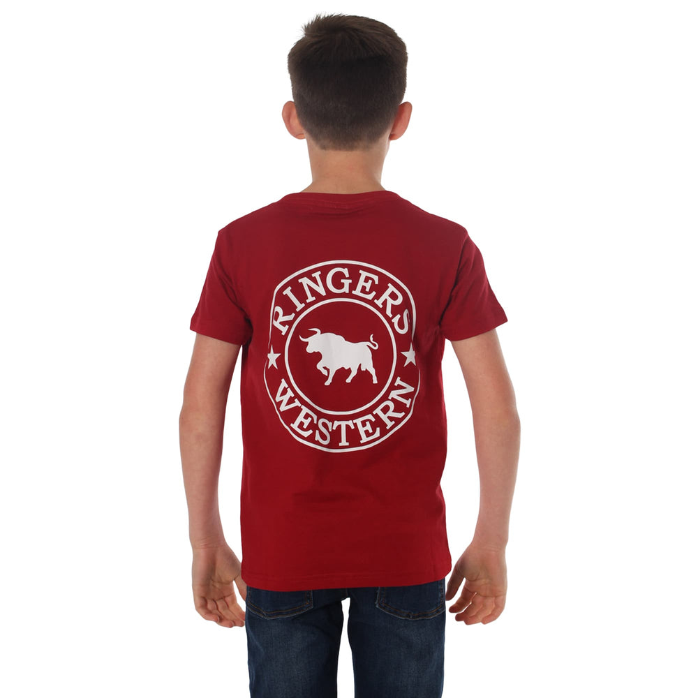 Signature Bull Kids Classic T-Shirt Red