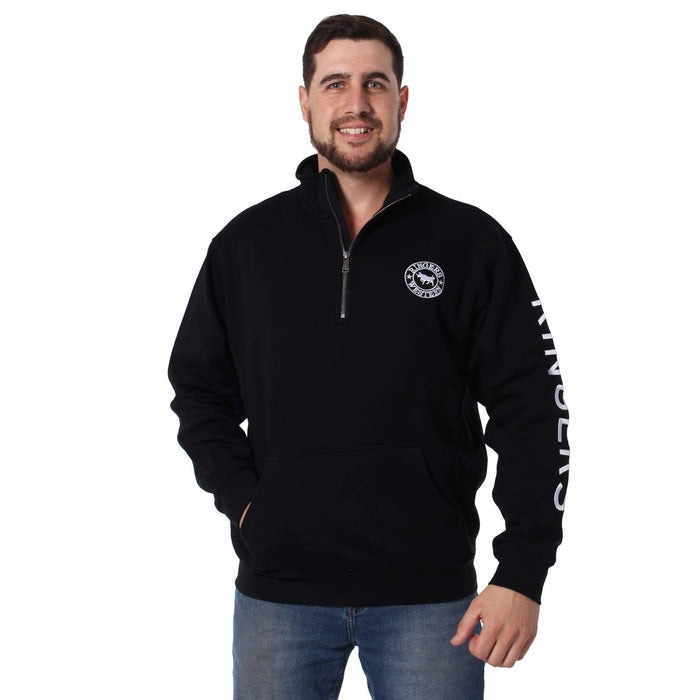 Townsend Mens Half Zip Fleece Black