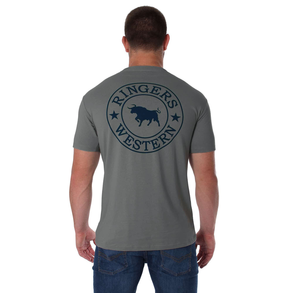 Signature Bull Mens Classic T-Shirt Concrete Grey