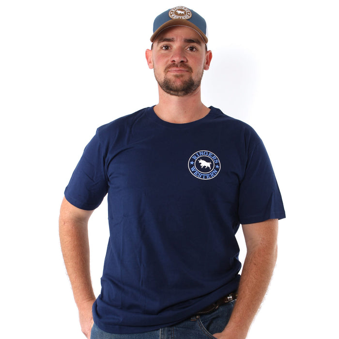 Signature Bull Mens Classic T-Shirt Navy/Blue