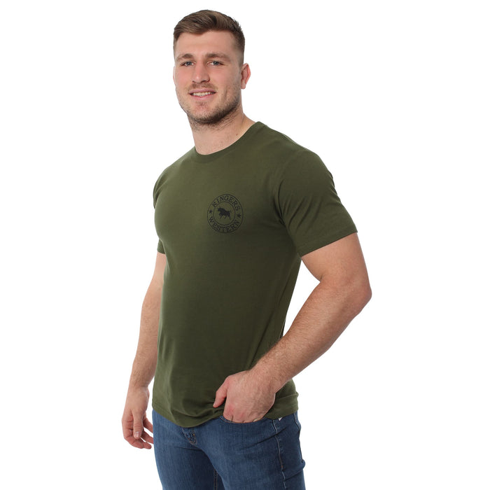 Signature Bull Mens Classic T-Shirt Army-Black