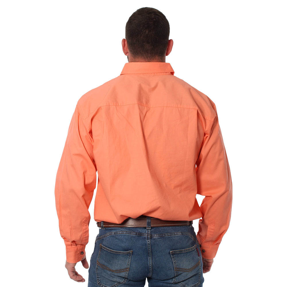 King River Half Button Work Shirt Tangerine