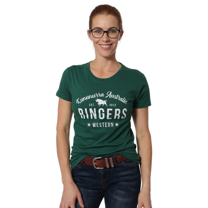 Meda Womens Classic T-Shirt Bottle Green