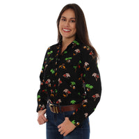 Sundowner Womens Long Sleeve Workshirt Black