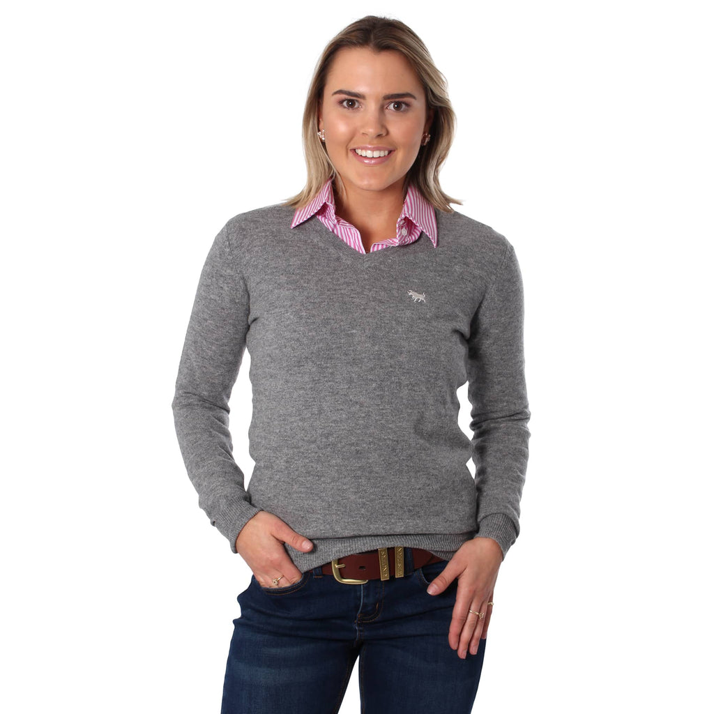 collared shirt with v neck sweater