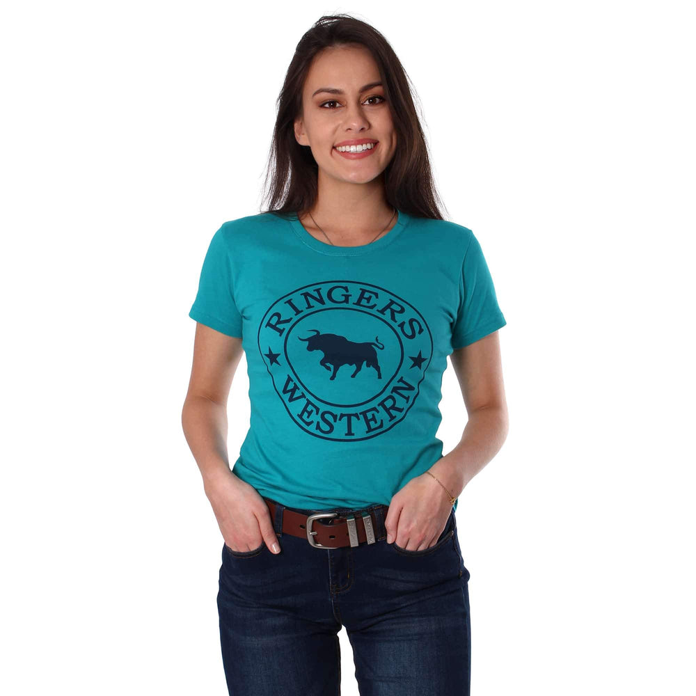 Curl Curl Womens Classic T Shirt Turquoise