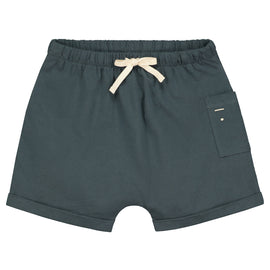 Gray Label One Pocket Baby Short  - Blue Grey