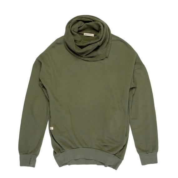 Lennon + Wolfe Kanye Cowl Neck Sweatshirt Fatigue