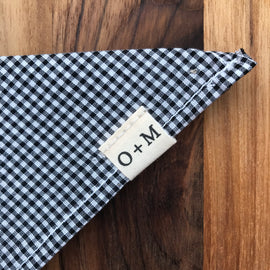 O + M Small Batch Collection - Kerchief - Black/White