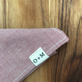 O + M Small Batch Collection - Kerchief - Red
