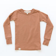 O + M The Label - Not So Basic Fitted Long Sleeve Tee - Toast