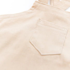 O + M Small Batch Collection Overall in Light Tan Corduroy - PRESALE