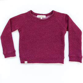 O + M The Label - Not So Basic Sweatshirt - Rhubarb