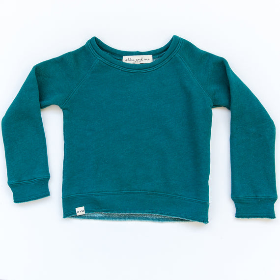 O + M The Label - Not So Basic Sweatshirt - Spruce