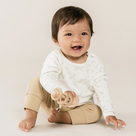 Quincy Mae Long Sleeve Baby Tee Ivory