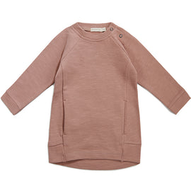 Phil & Phae Essentials Sweatshirt Dress Dusty Blush