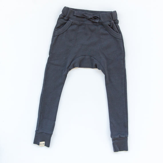 O + M The Label - Not So Basic Fitted Harem Pant  - Charcoal