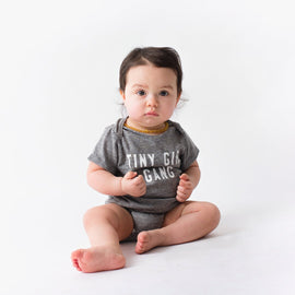 Jean & June Tiny Girl Gang Onesie - Grey