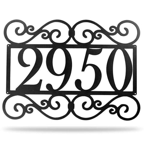 Fancy Address Monogram