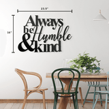Humble and Kind - Quote