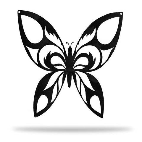 Tribal Butterfly Wings - Redline Steel