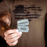 American Hero Dog Tag - Redline Steel
