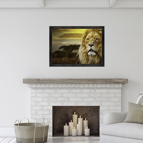 Lion (Canvas) - Redline Steel