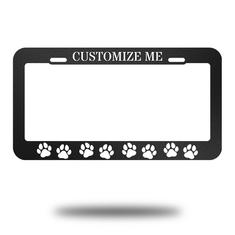 Car Tag Dog Monogram