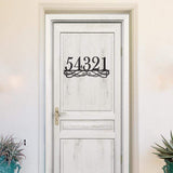 Elegant Address Monogram - Redline Steel